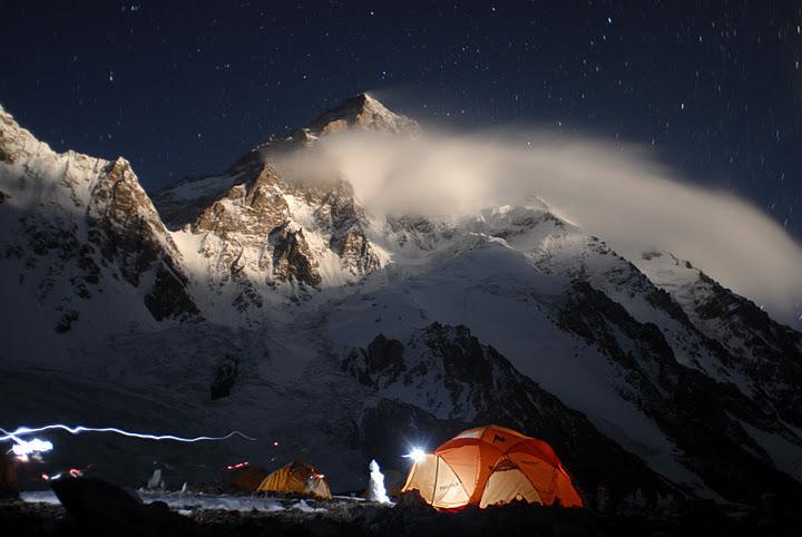K2 Base Camp At Night from base camp at night is