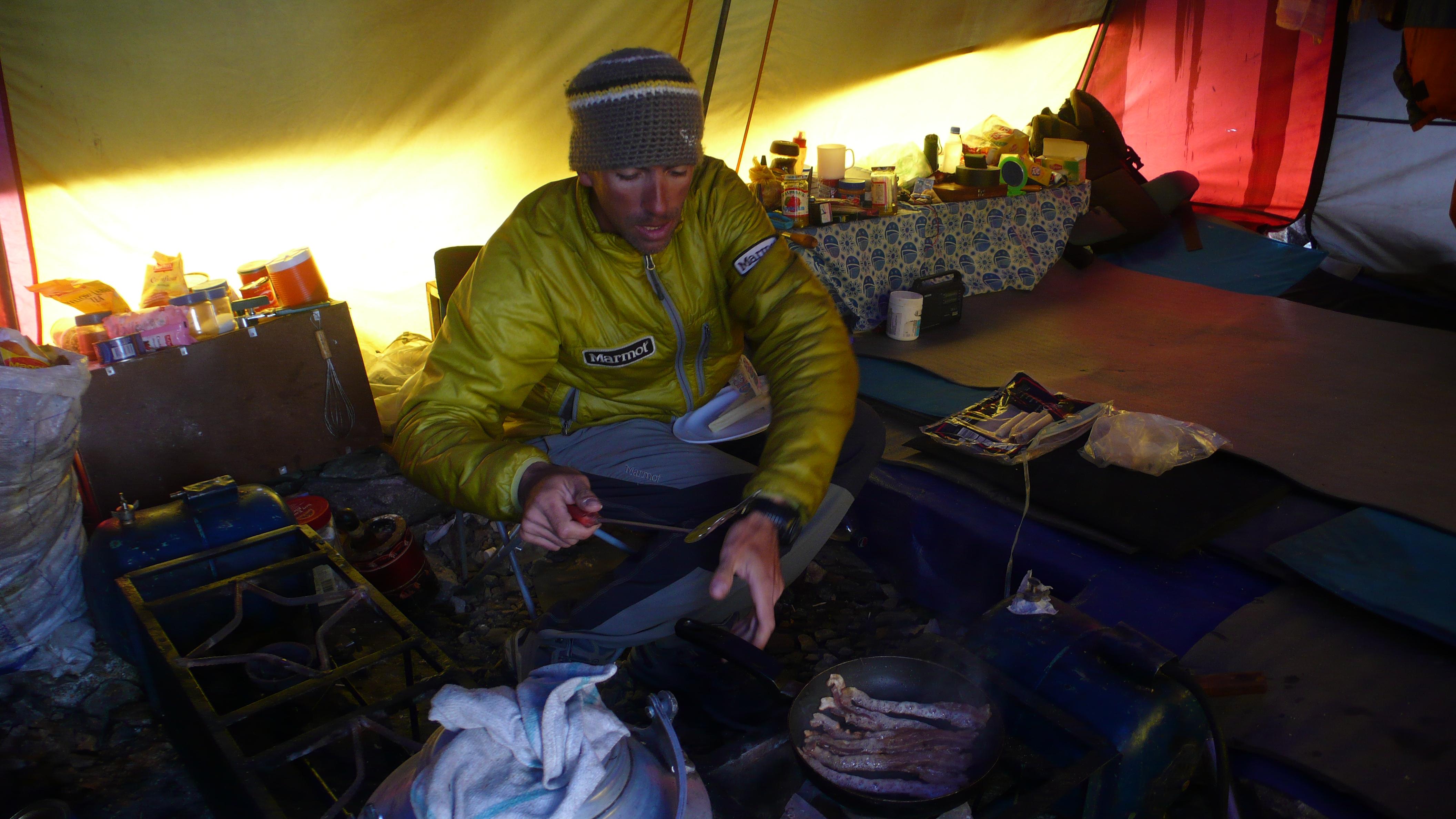 K2 Base Camp At Night Cooking in K2 base camp